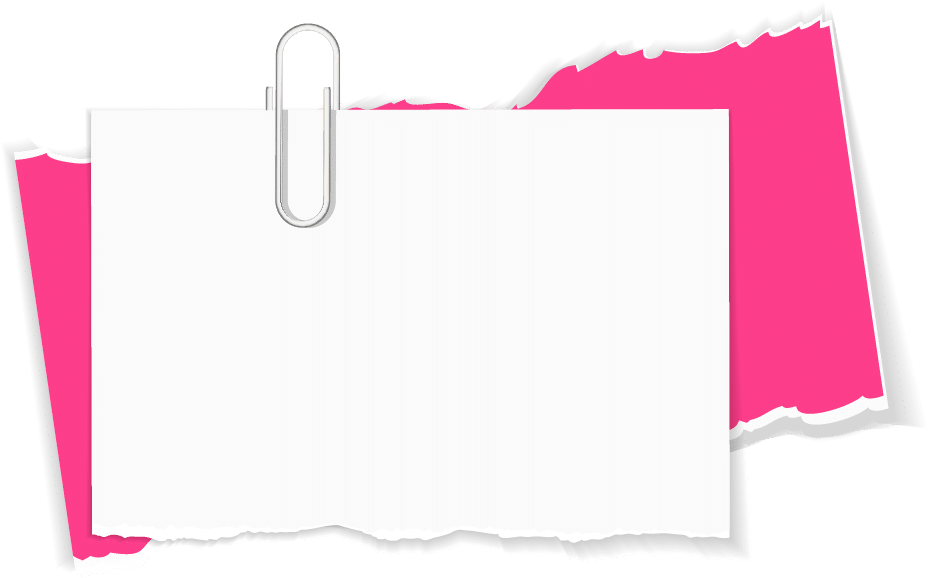 notecard with paperclip