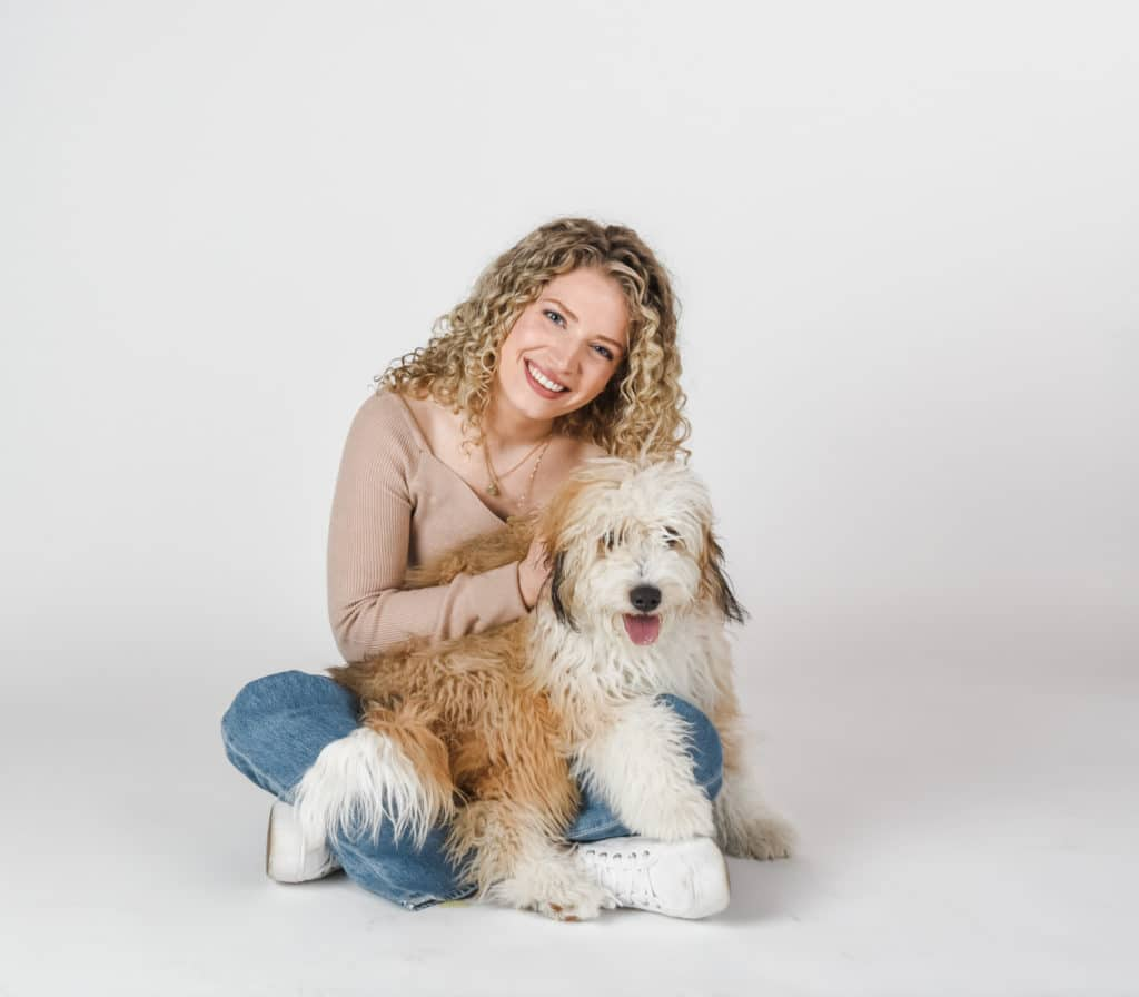 barb with her dog